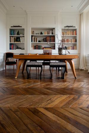 coffered floors herringbone