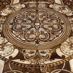 luxury coloured wooden inlaid carpet
