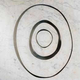 Deep 2 | luxury white and black designer tile with concentric circles | oakwood flooring