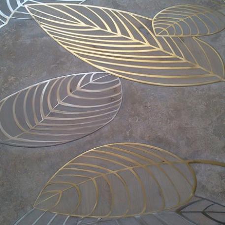 элегантный паркет рисунок листья